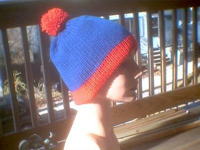 Knit hat South Park cosplay Stan red and blue