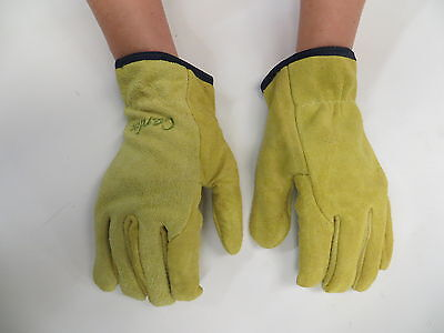 Pruning Gloves Ladies Thornproof Suede Leather Heavy Duty Cotton Lining Garden