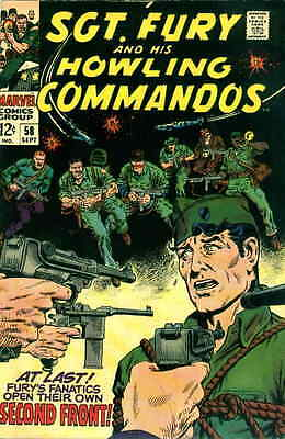 SGT. FURY #58 G, And His Howling Commandos, Marvel Comics, 1968