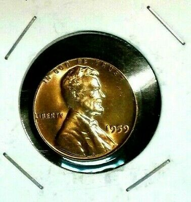 1959 - P    Lincoln  Memorial  Cent  BU  Red  Nice  US  Coin  Combined  Shipping