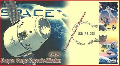 SPACEX CRS-7 Complete Vehicle Breakup Launch Cape Canaveral, Florida Event Cover