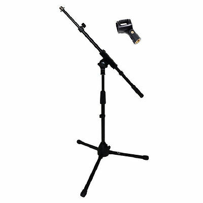 MS300 Short Telescipic Microphone Boom Stand 2 Year Warranty Free Mic Clip