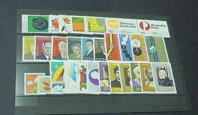 1975 Australian stamp set. Complete simplified, Mint Unhinged.