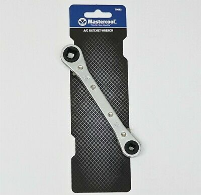 70082 Refrigeration Air Conditioning  4 in 1 Ratchet Square Wrench 1/4 thru 3/8