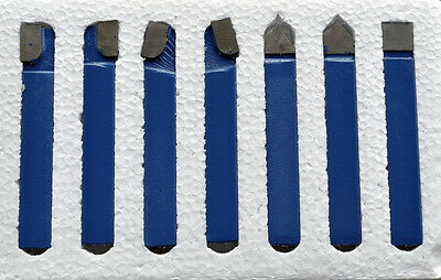 "3/8"" Carbide Tip Tool 7 Pc Set Lathe Tool & Milling Cutting Tools 12-248-017"