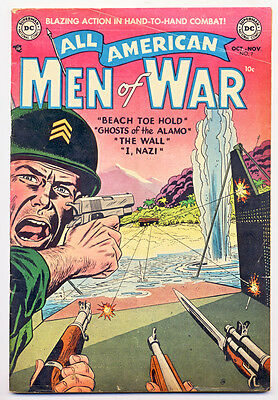 ALL AMERICAN MEN OF WAR #7 G, small tears on covers, DC Comics 1953