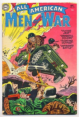ALL AMERICAN MEN OF WAR #16 G, small pieces missing & tears fc, DC Comics 1954