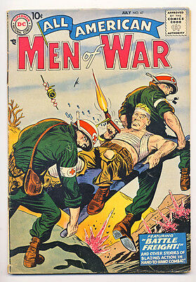 ALL AMERICAN MEN OF WAR #47 VG, spine split, loose centerfold ts, DC Comics 1957