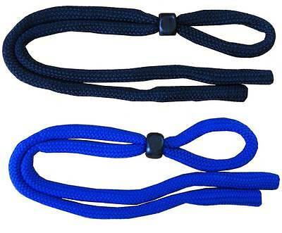 2pcs Andevan™ Eyeglass Adjustable Retainers, Cords, black & blue