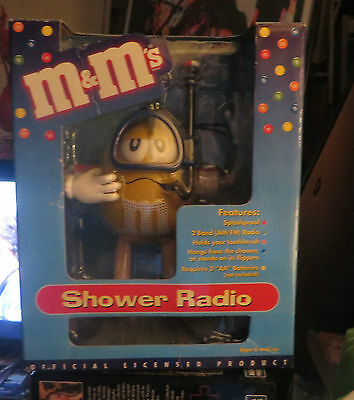 M & M 's Candies Shower Radio Yellow M&m Edition In The Box