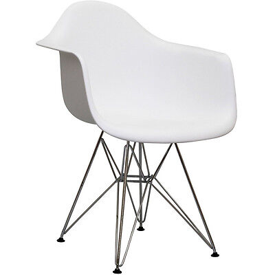 Modway Furniture Paris Dining Armchair White - EEI-181-WHI Chair NEW