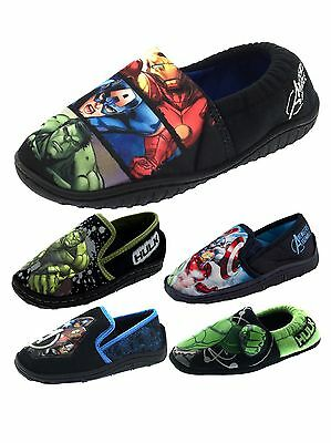 Boys Marvel Avengers Thor Hulk Iron Man Slippers Kids Mules Shoes Booties Size