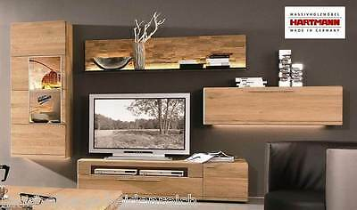 wohnwand anbauwand hartmann viva wildeiche kombi nr 28 massiv neu eur picclick de. Black Bedroom Furniture Sets. Home Design Ideas