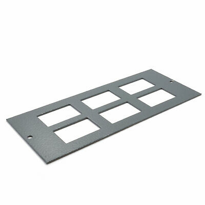 6 Way Data Plate 6C Cut Outs for Cavity Floor Box 06298 [007789]