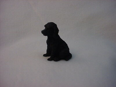LABRADOODLE black puppy TiNY Dog FIGURINE Labra Doodle MINIATURE Mini Statue NEW