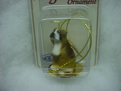 BOXER dog ANGEL Ornament Figurine Statue NEW Brown UNCROPPED puppy Christmas