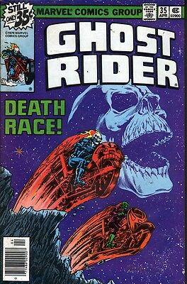 Marvel Ghost Rider #35 (1979) .. Deathrace - No stock images
