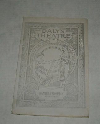Oct 6, 1902 DALY's THEATRE NY PROGRAM BOOKLET A COUNTRY GIRL GRACE FREEMAN  ADS