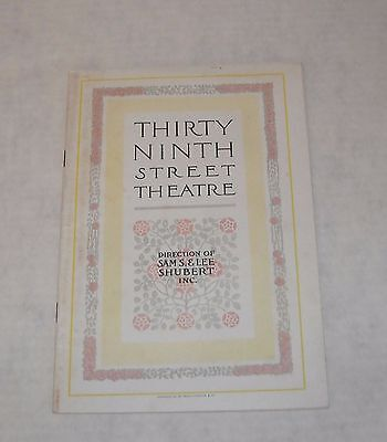 1900's The 39th St. THEATRE PROGRAM BOOKLET The MILLION EUGENE O'BRIEN LOTS ADS