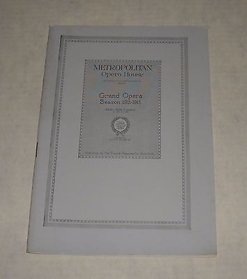 Metropolitan Opera House 1912 - 13 Season Theatre Program Booklet Frances Alda
