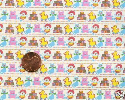 Dollhouse Wallpaper / 3 Sheets of Baby Toys