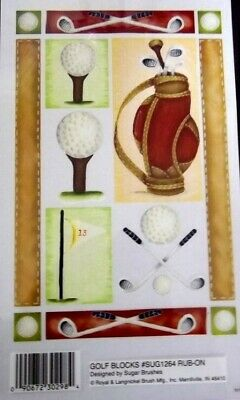 *GOLF * Royal & Langnickel Rub-ons - scrapbooking/cardmaking