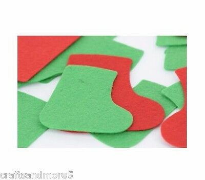 12 Felt Stocking Shapes ~ Various Size s~ 80mm - 110mm