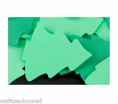 10 Small Christmas Tree Foam Shapes ~ Approx 6cm high ~ Great for Crafts
