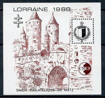 Stamp / Timbre France Neuf Bloc Feuillet C.n.e.p.  N° 9 * Lorraine Cote 25 €