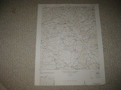 Antique 1946 Gilbert South Carolina Topographical Map Railroad Detailed Rare Nr