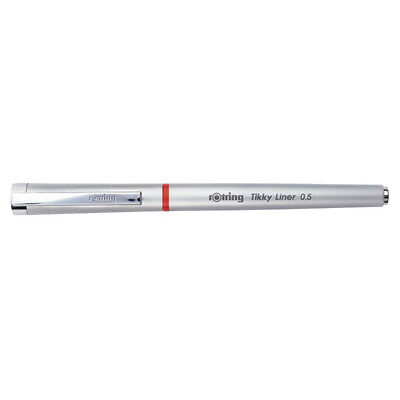 Rotring Tikky Liner  0.5 Needlepoint Tip Black Gel Ink Pen New In Box S0919080