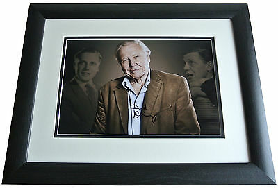 David Attenborough SIGNED FRAMED Photo Autograph 16x12 LARGE display AFTAL & COA