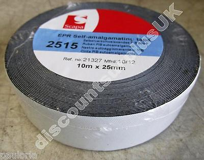 SCAPA 2515 EPR SELF AMALGAMATING TAPE 25mm x 10m *NEW WRAPPED ROLL* 21327 RR06
