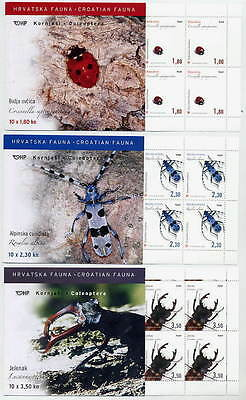 CROATIA 2005 Insects booklets of 10 stamps MNH / **.  Michel 713-15