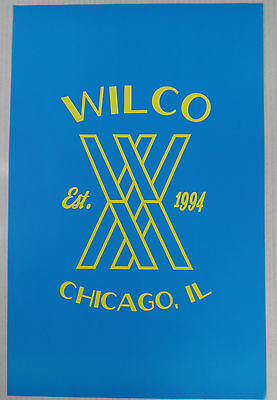 "Wilco - Blue/Yellow 2 Sided Promo Poster * 11"" x 17"" Limited Edition"
