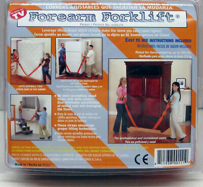 ForeArm Forklift Moving Furniture Appliance Safe Moving Lifting Straps Dolly