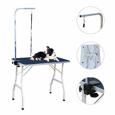 PawHut 36'' Folding Pet Dog Grooming Table w/Adjustable Arm Noose Non Slip Table