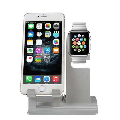 Aluminum Charging Dock Station Charger Holder Stand For Apple iWatch & iPhone