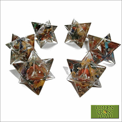1 x Orgonite Chakra Crystal Merkaba Merkabah Star Positive Energy Generator 30mm
