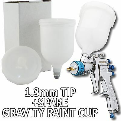 Devilbiss SLG-620 Spray Gun Gravity Feed 1.3mm Solvent Paint/Lacquer + Spare Cup