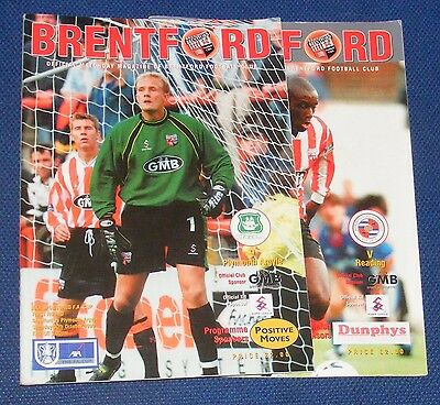 Brentford Home Programmes 1999-2000