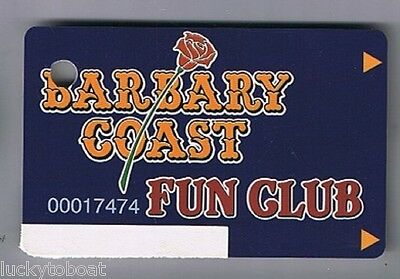 Barbary Coast Fun  Club Slot Card Las Vegas Nevada