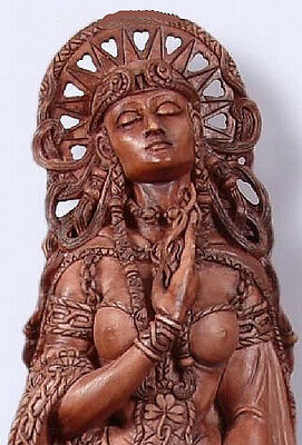 Celtic Goddess Brigid Brigit at Well Pagan Wiccan Statue by Maxine Miller #11023