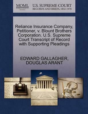 Reliance Insurance Company, Petitioner, v. Blount Brothers Corporation. U.S. Sup