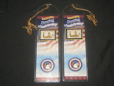 BSA US 1960 4 Cent Scout Stamp Book Mark lot of 2                    eb03