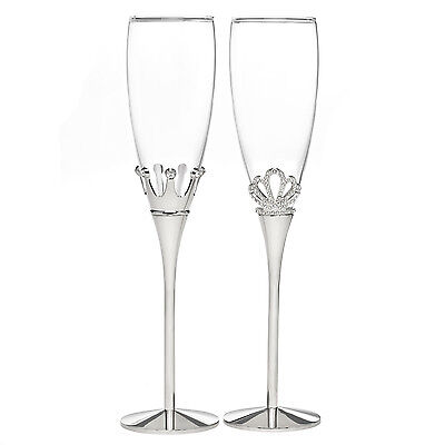 Hortense B Hewitt King and Queen Flutes 11344 Glassware NEW