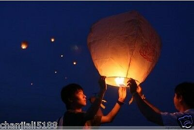 30PCS FIRE SKY CHINESE LANTERNS BIRTHDAY WEDDING PARTY 9colors PW#028
