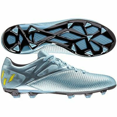 best service 6befa 0e6b3 adidas F 15.3 TRX FG   AG Messi 2015 Soccer Shoes Metallic Blue Brand New