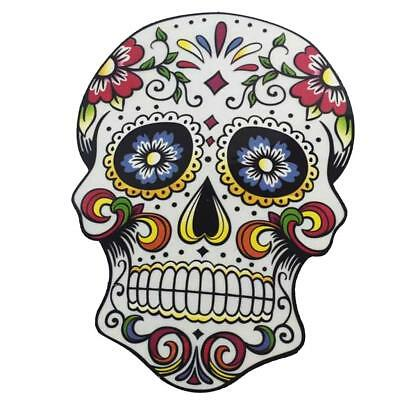 1pc Floral Printing Skull Wall Sticker/IRON ON TRANSFER T-SHIRT for Kids NEW