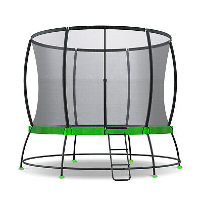 NEW 8ft HyperJump 2 Spring Trampoline Enclosure Net w/ Ladder by Lifespan Kids